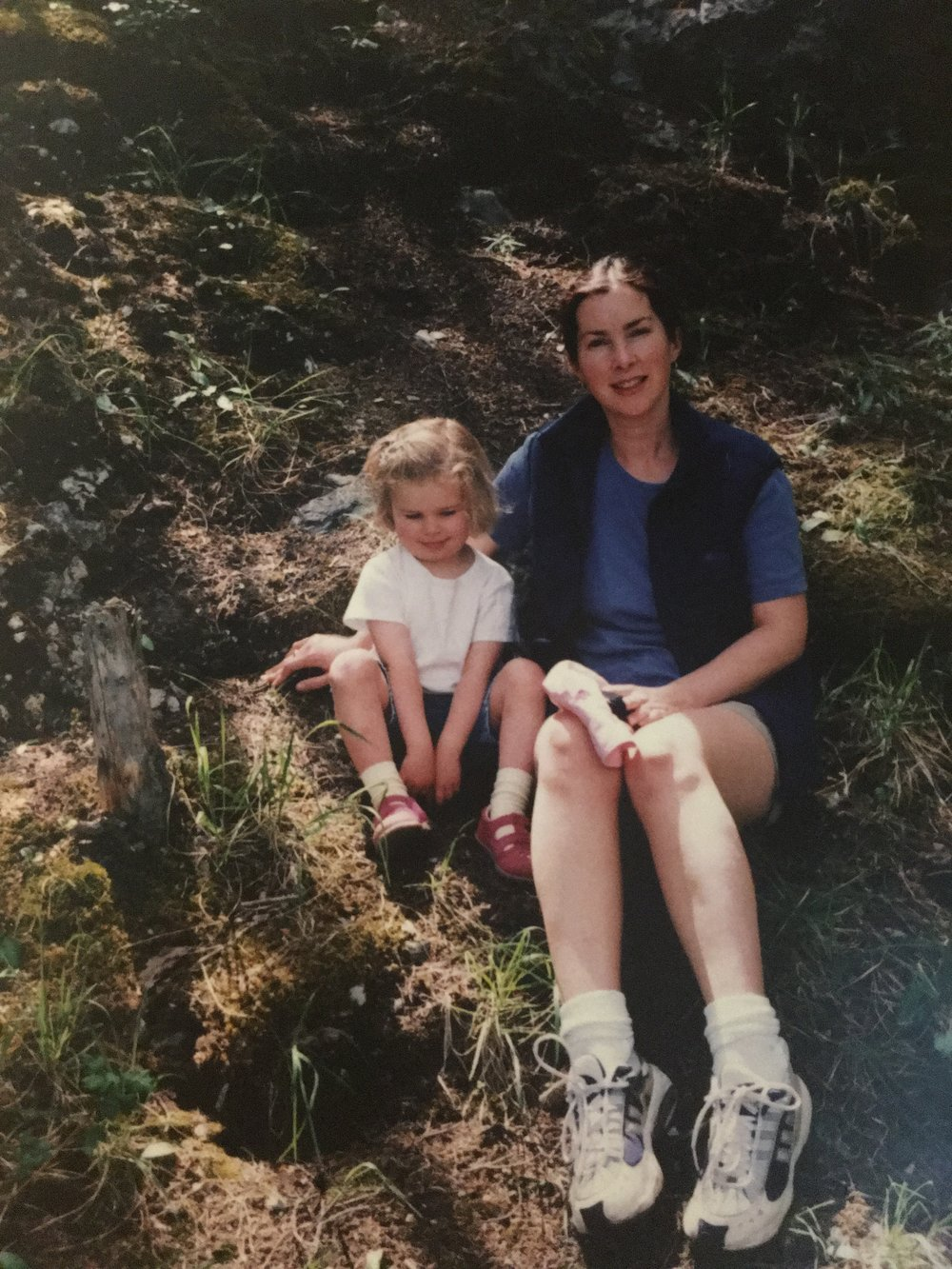 """My mom and I """"out in the country."""":"""