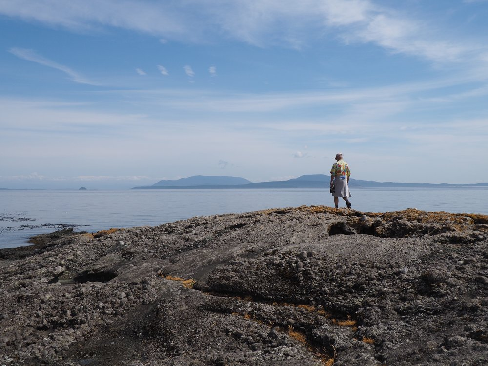 My dad on Pender Island.