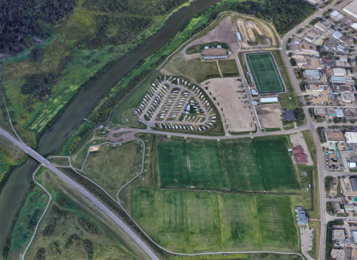 The redeveloped recreation facilities at Riel Recreation Park.