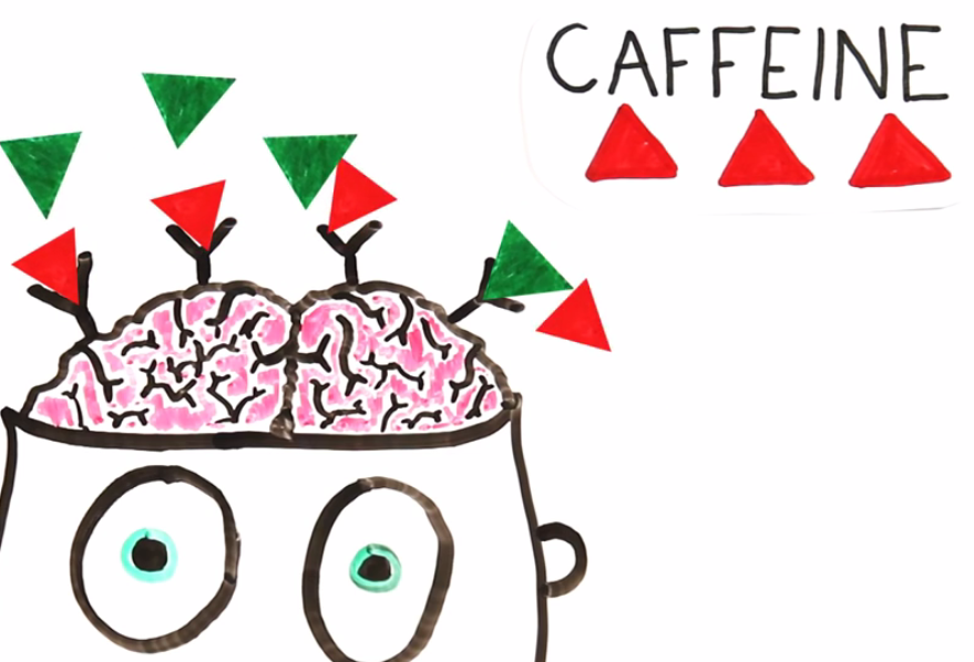 "Caffeine totally ""catfishing"" the brain right now in this picture."