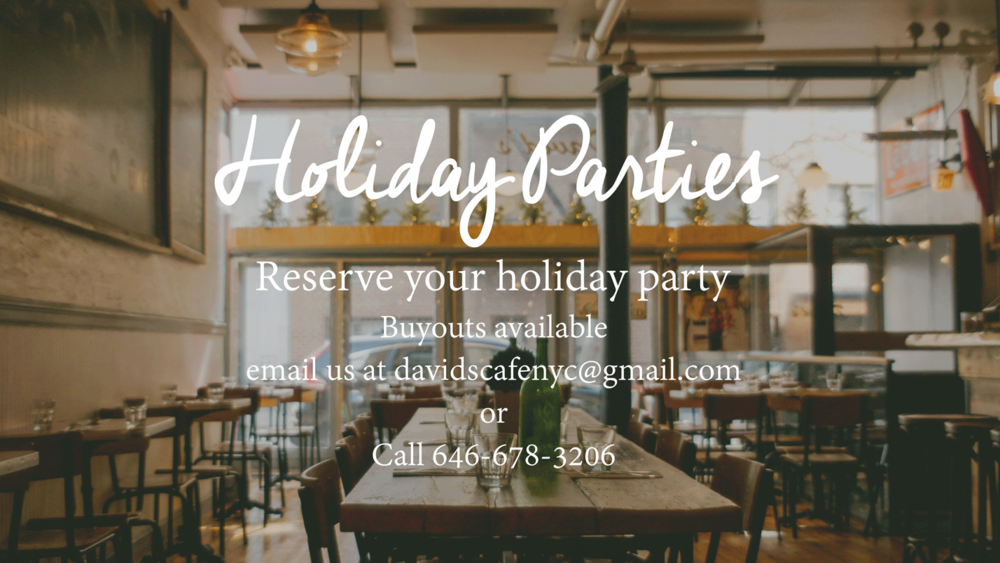 David's Cafe Holiday Party Buyouts