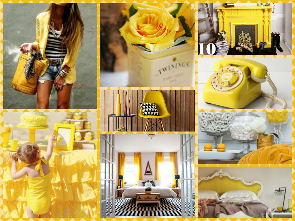 Yellow inspiration board