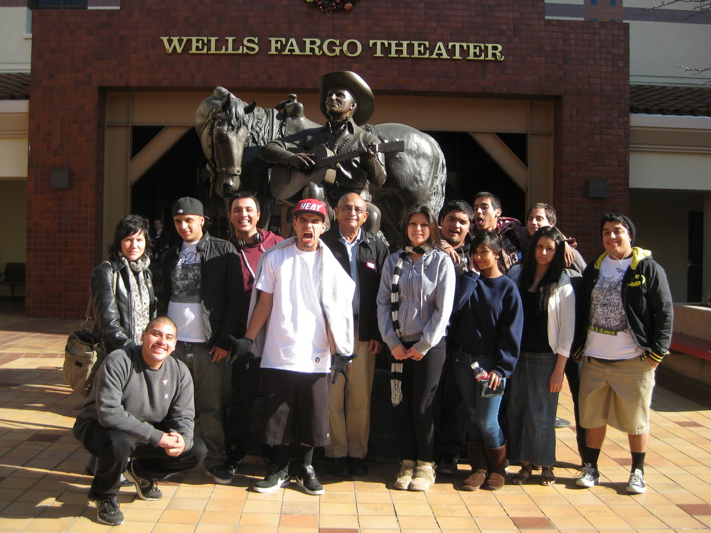 artworxLA student celebrates the culmination of their Fall 2011 workshops at the Autry Museum of the American West.