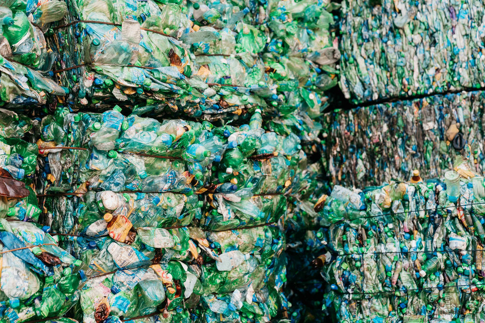 Plastic bottles used to make the ReGreen Windshell