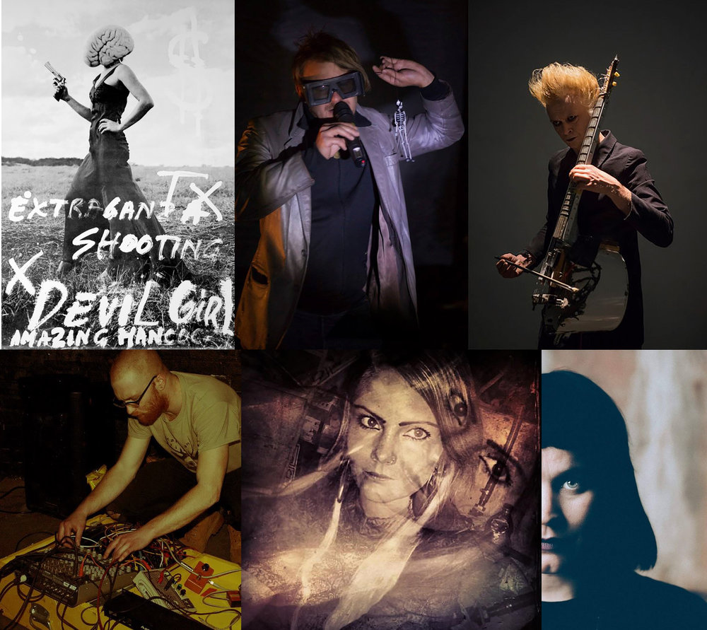 (Clockwise from top left: Devil Girl, Juho Pösiloe Pöysti, Risto Puurunen, Marita Isobel Solberg, Lína Thoroddsen, Joey Sledge)