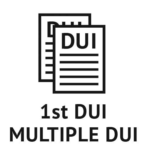 First DUI, Misdemeanor DUI, 2nd, 3rd, 4th DUI
