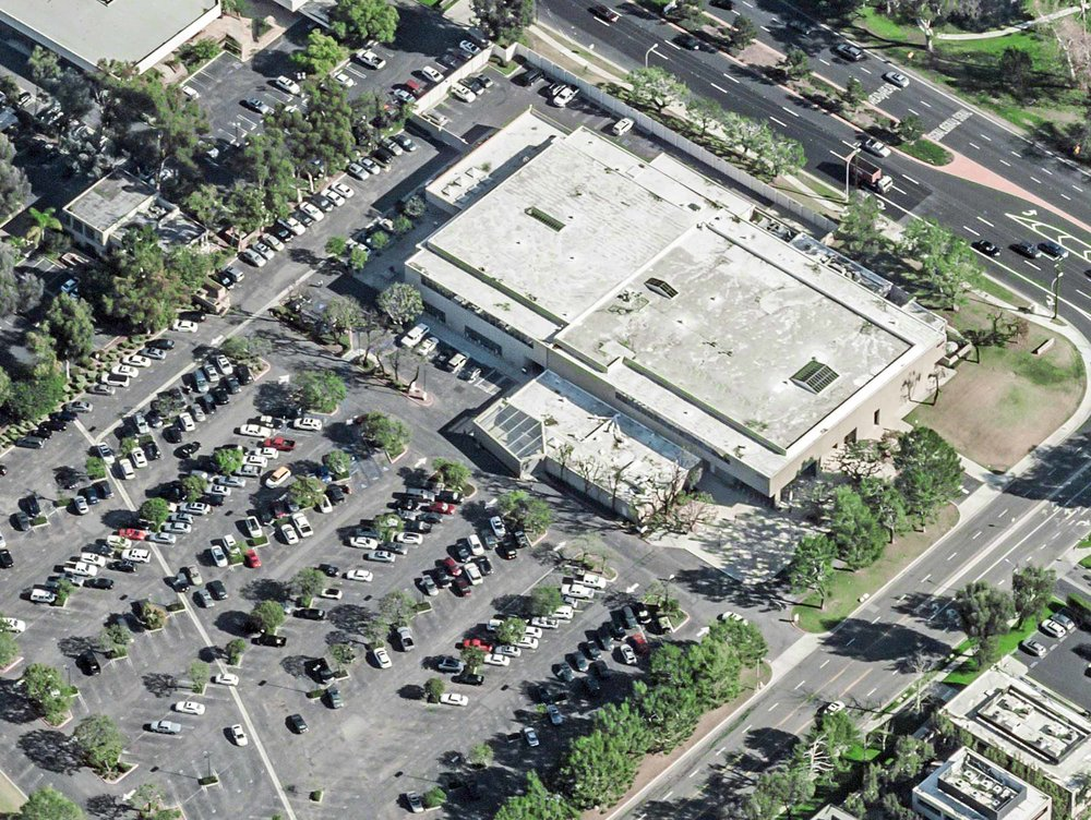 Aerial photo of Harbor Justice Center, Newport Beach Courthouse