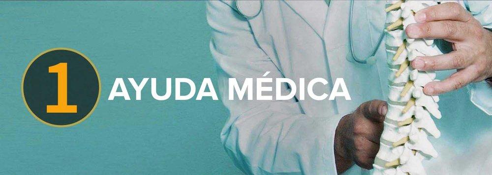 (1) Atención médica por sus lesiones accidentales. Nuestros abogados para lesiones saben cómo luchar para brindarle la mejor atención médica para sus lesiones.