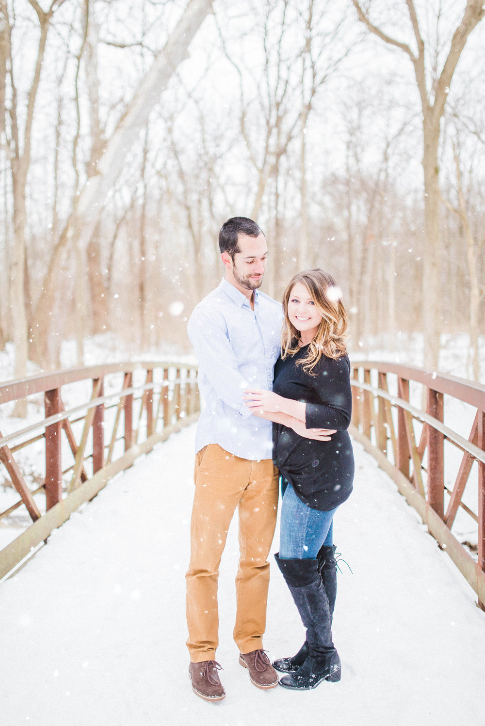 Fine Art Indianapolis Destination Wedding Photographer - Winter Snow Engagement Session