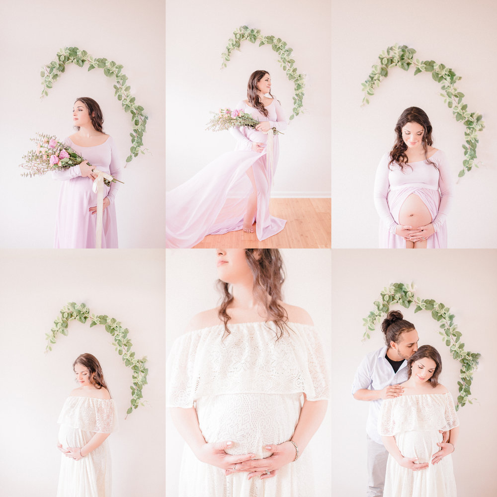Light and Airy Fine Art Maternity & Newborn Photography Studio in Noblesville, IN