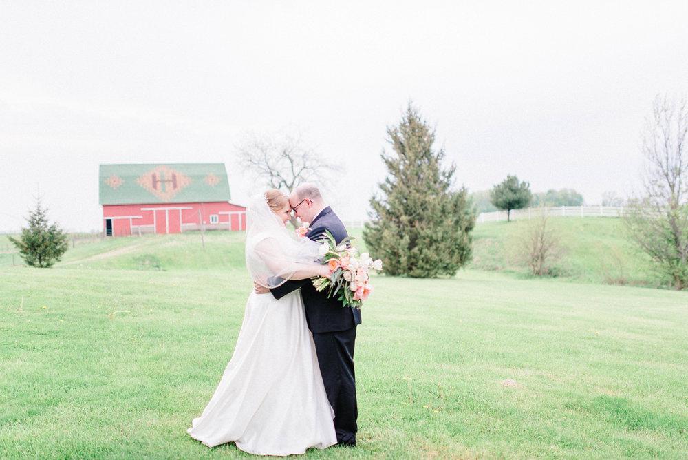 Romantic, Simplistic & Organic Wedding on an Alpaca Farm in Indiana   Color Scheme of Dusty Blue, Blush Pink and Soft White Tones   Indianapolis Destination Wedding & Elopement Photographer   Katerina Marie Photography - www.katmariepad.com