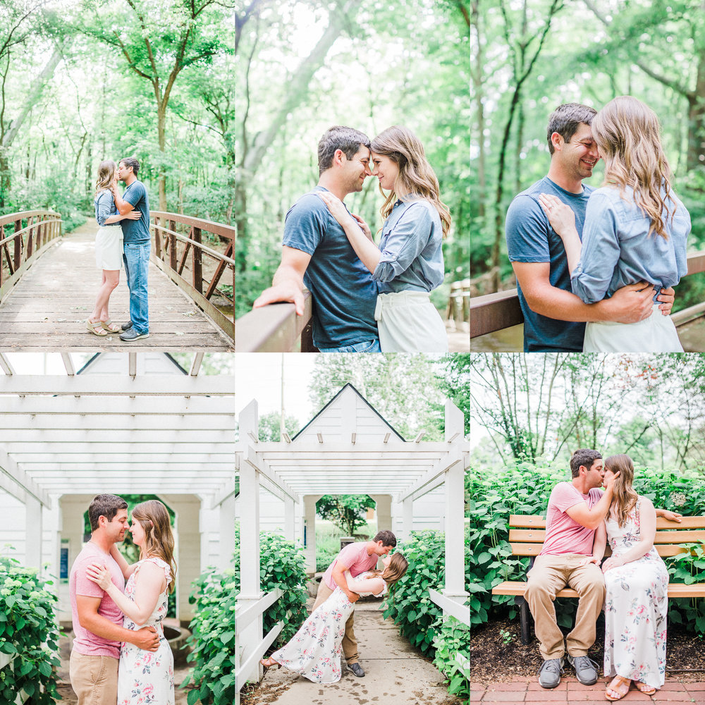 Enchanting Engagement Photography at a Carmel Indiana Park | Indianapolis Romantic Elopement & Destination Wedding Photographers | Katerina Marie Photography - www.katmariepad.com