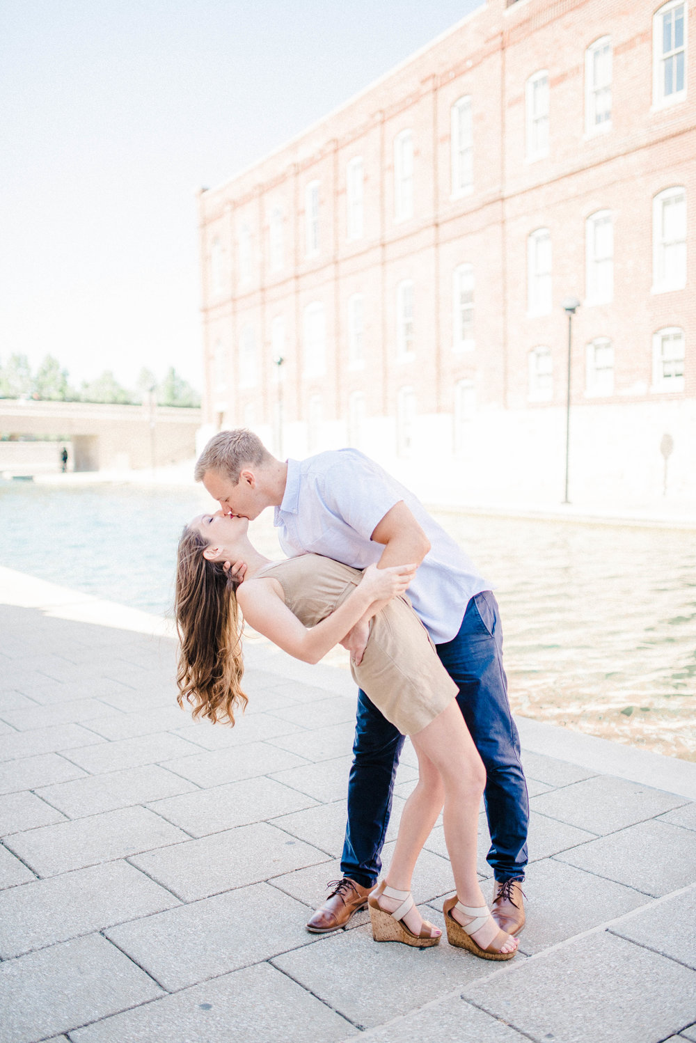 Bright and Fun Morning Engagement Photography Session on the Canal in Downtown Indianapolis, IN | Romantic Elopement & Destination Wedding Photographers | Katerina Marie Photography - www.katmariepad.com