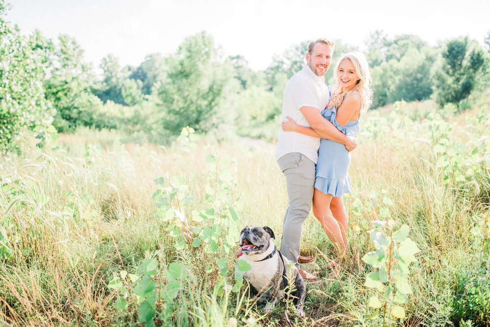 Megan + Kristopher | Romantic and Adventurous Golden Hour Park Engagement with the Mighty Tank | Elopement & Destination Wedding Photographers | Carmel, IN