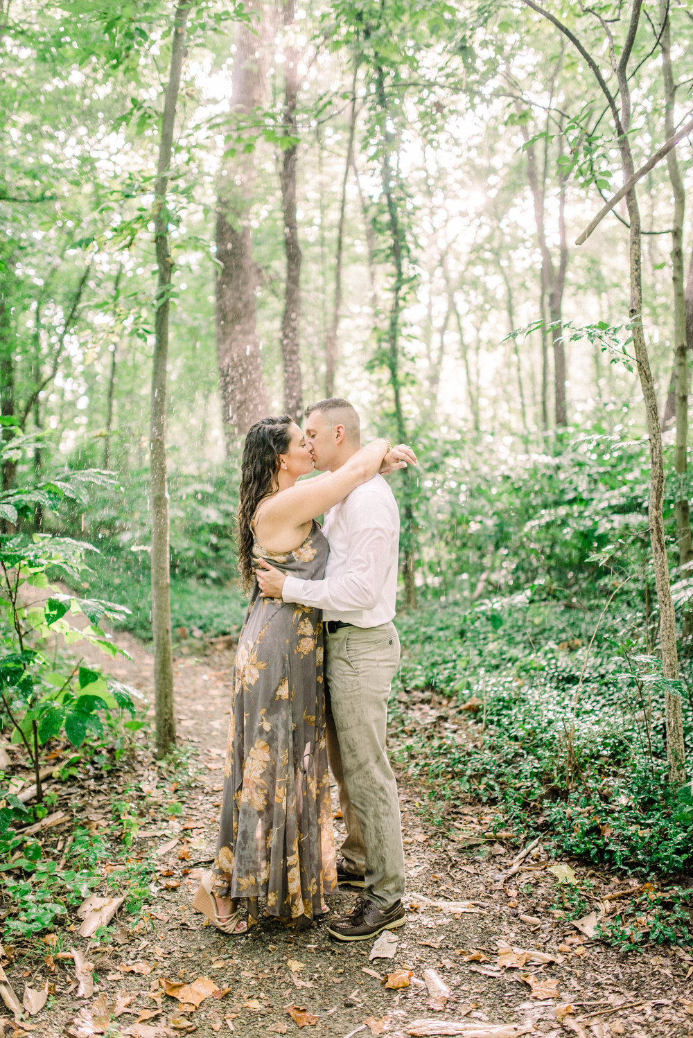 Kaitie + Ryan | A Romantic Engagement with Rain Forest Vibes in Carmel, IN | Indianapolis Elopement & Destination Wedding Photographers