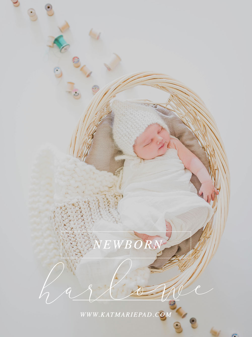 Harlowe | Crafty Vintage Newborn Photography Session | Noblesville IN Natural Light Photographer Studio