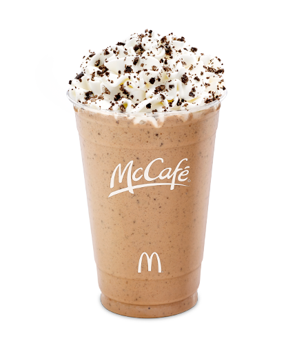 A 16 ounce (medium) McCafe Mocha Frappe contains 560 calories, a whopping 70g of sugar and 15g of saturated fat (75% of what we should consume in an entire day).