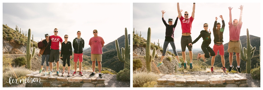 My family jumps for joy when hiking... because I made them.