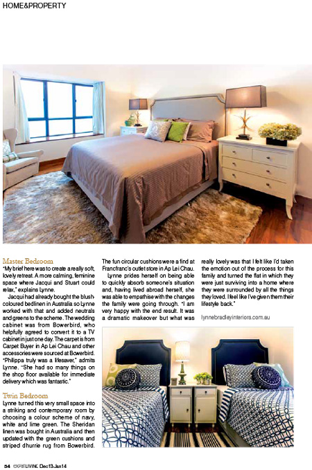 Lynne Bradley Interiors featured in ExpatLIVING Hong Kong