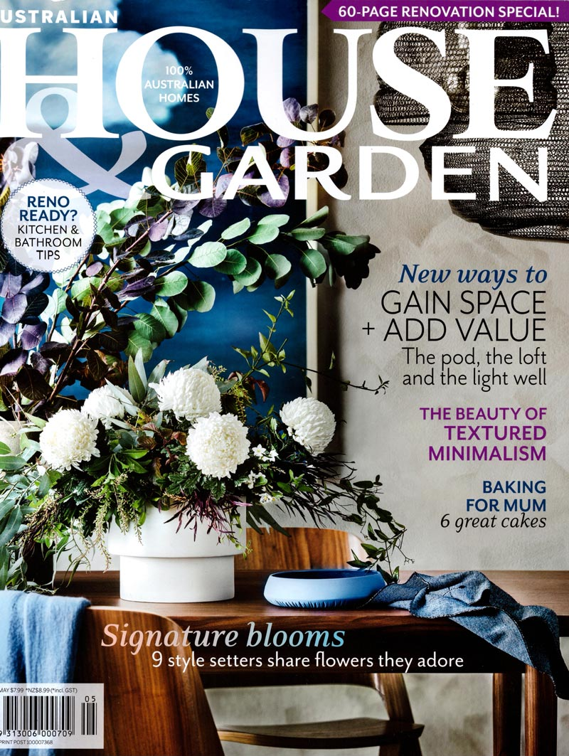 Lynne Bradley Interiors, featured in Australian House & Garden May 2017
