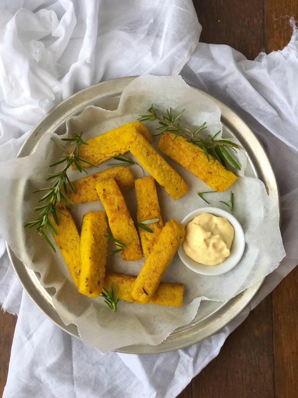 Rosemary Polenta Chips
