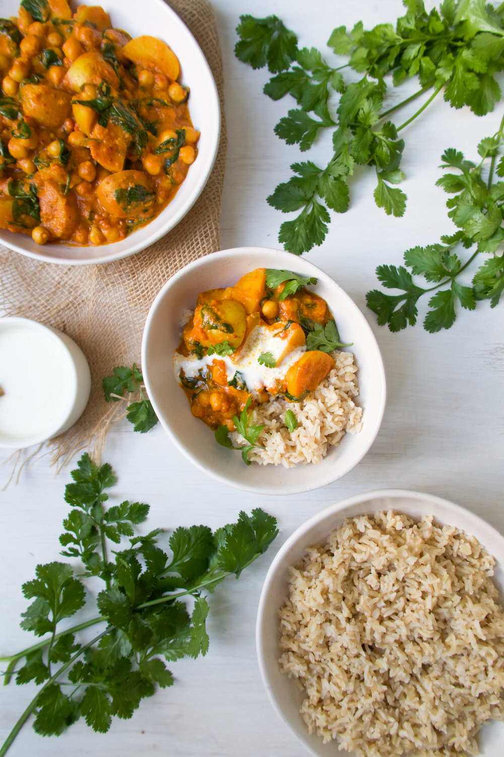 Potato and Chickpea Curry
