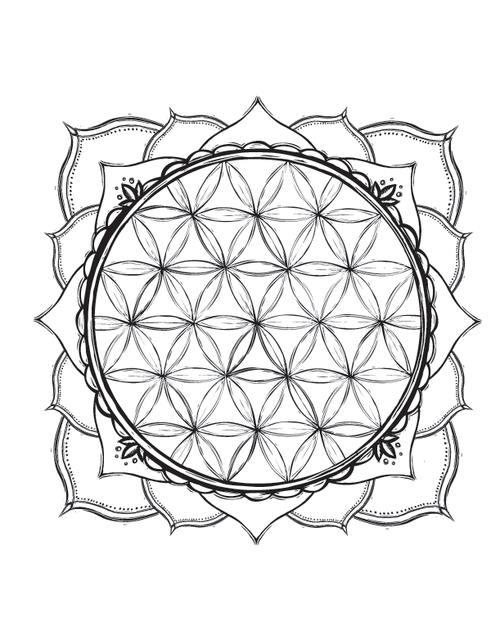 Sacred Symbols coloring book — Lydia Hess Illustration & Design