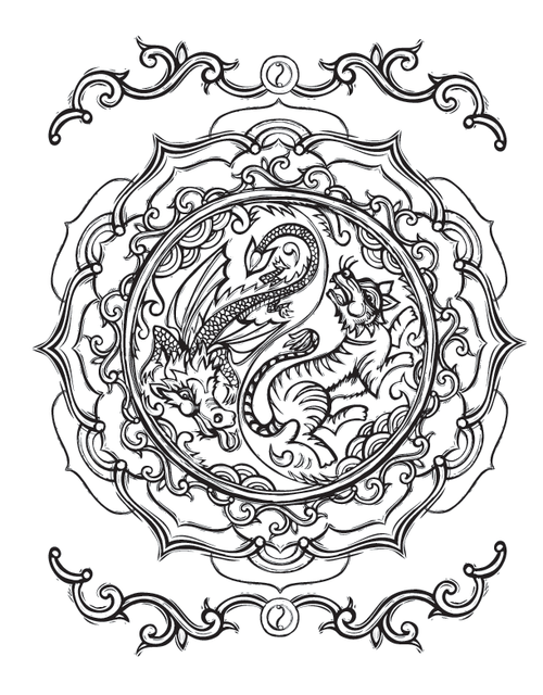 Sacred Symbols Coloring Book