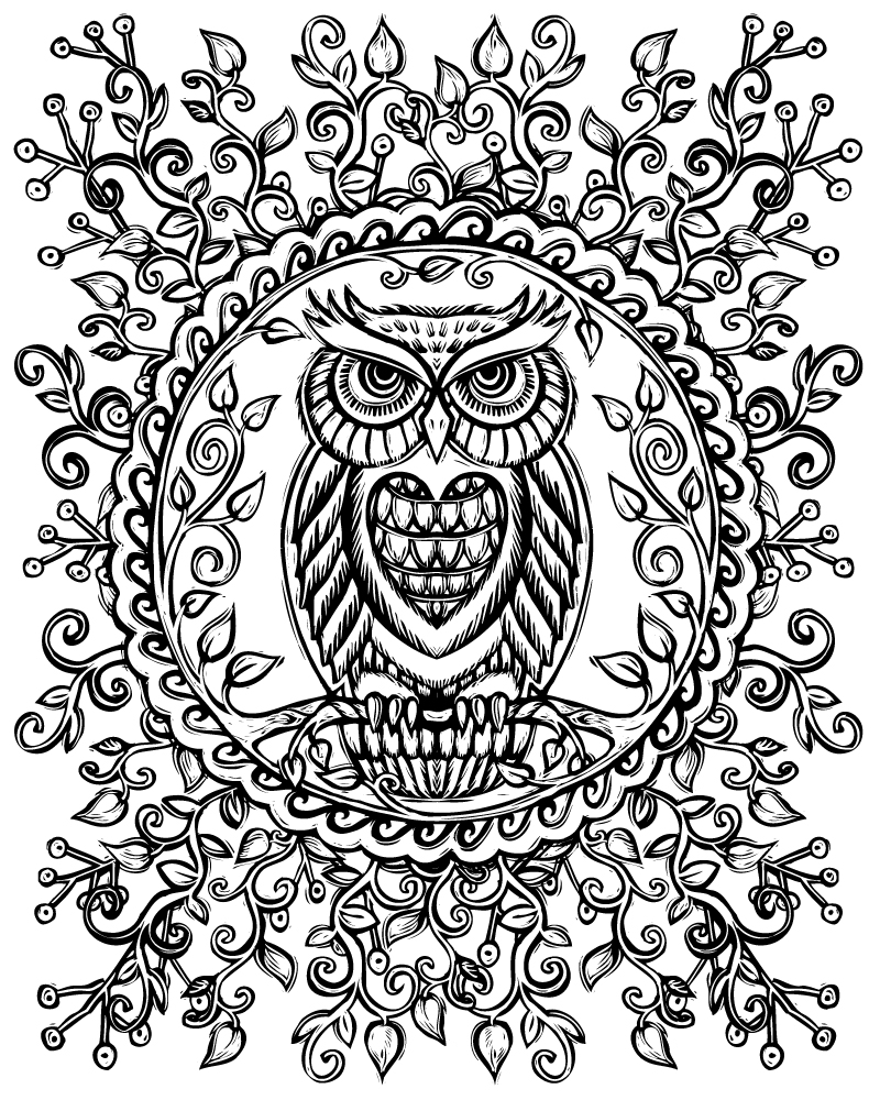 Owl mandala coloring pages - Cool Coloring Pages Heart Owl U Lydia Hess Sacred With Coloring Pages Owl