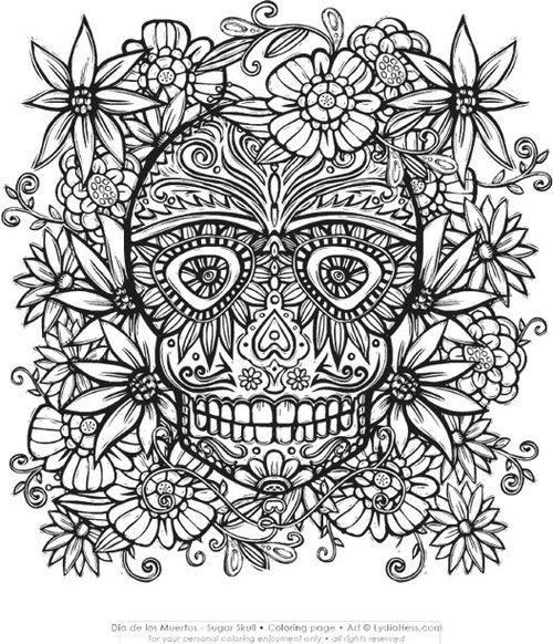 Dia de los Muertos - Sugar Skull — Lydia Hess Illustration & Design