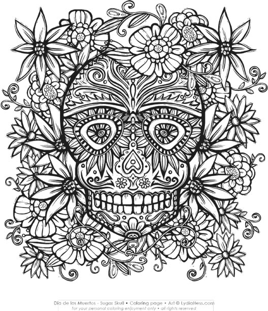 - Dia De Los Muertos - Sugar Skull — Lydia Hess Illustration & Design