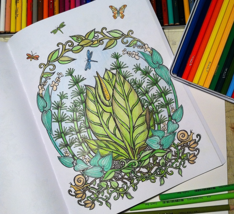 Coloring my own Coloring Books — Lydia Hess | illustration ...