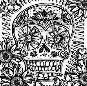 Enjoy this Coloring Page - Sugar Skull - Free Download