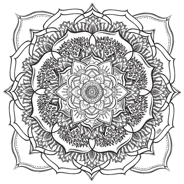"Mandala Community Coloring Banner - 36"" square"