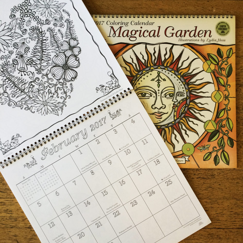 Door Prize: Giving away a Magical Garden 2017 Coloring Calendar!