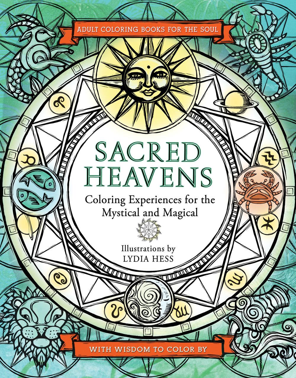 Sacred Animals Coloring Book 999 SacredHeavens Cover V3