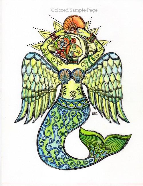 Sacred Angels Coloring Book — Lydia Hess | illustration | Sacred ...