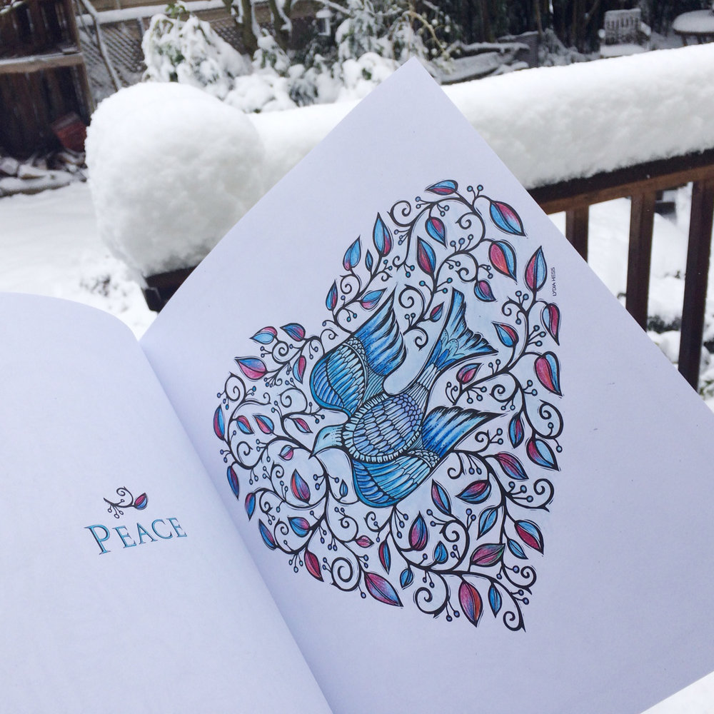 Peace - Heart Dove - from Sacred Angels - Coloring Books for the Soul.