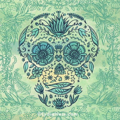 Garden Skull — Lydia Hess Illustration & Design