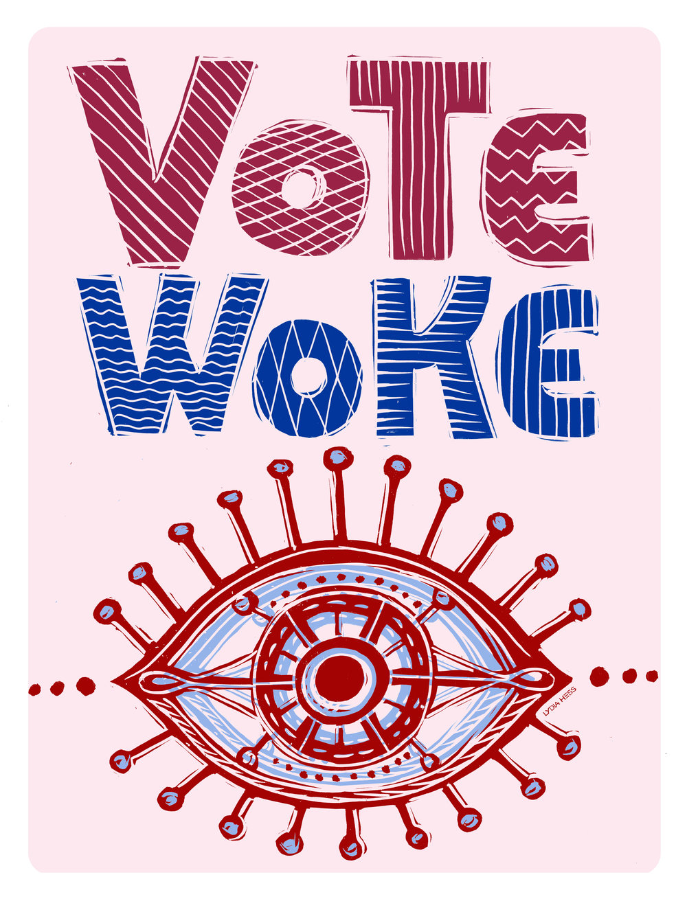 VoteWoke Poster - by Lydia Hess Illustration