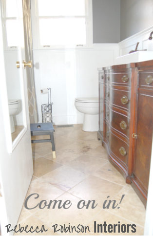 Enter >>>>> The Bathroom!
