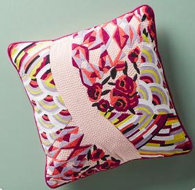 raspberry-sorbet pillow