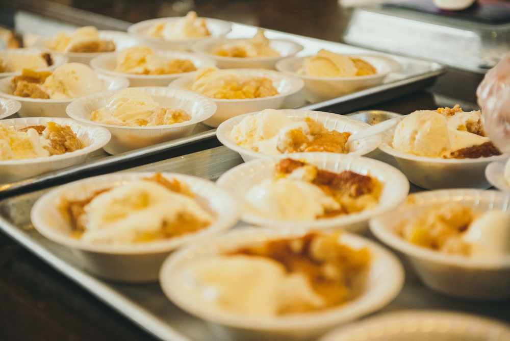 Dessert at Senior Support Services. Volunteers provided a free meal for Denver's homeless and hungry elders. Photo and story by nonprofit Another Look.
