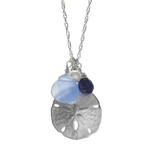Httpsbetsyfrostdesignblog 1 betsy frost design large sand dollar pendant with blue quartz lapis and pearl aloadofball Gallery