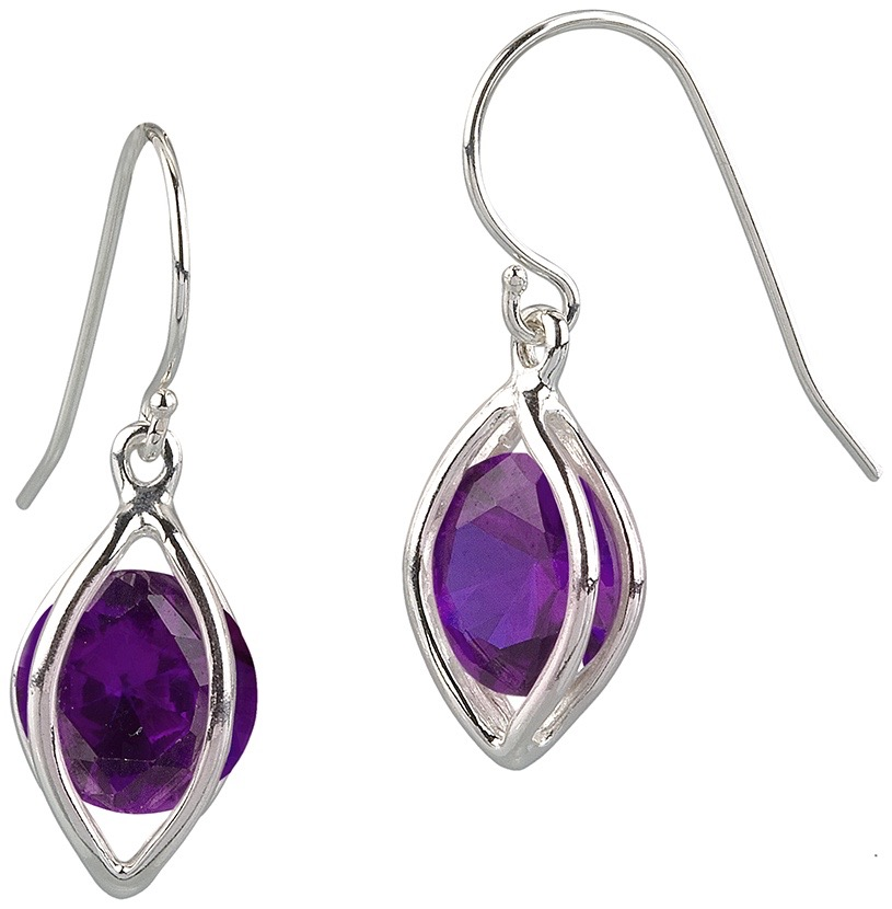 LIGHT CAGE EARRING WITH BALL OR STONE