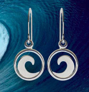 New Sterling Silver Wave Earrings
