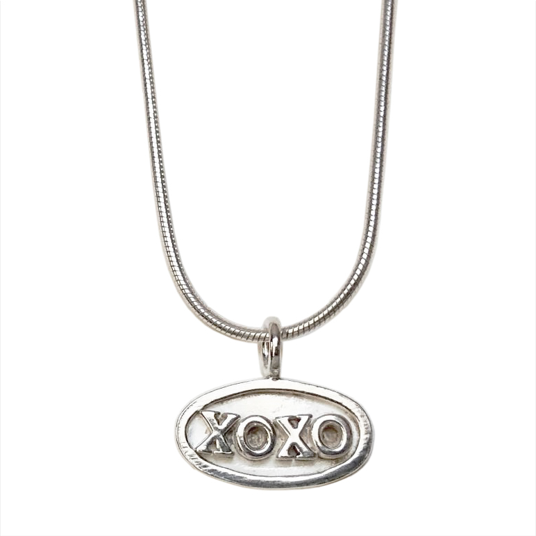 XOXO Pendant on Snake Chain