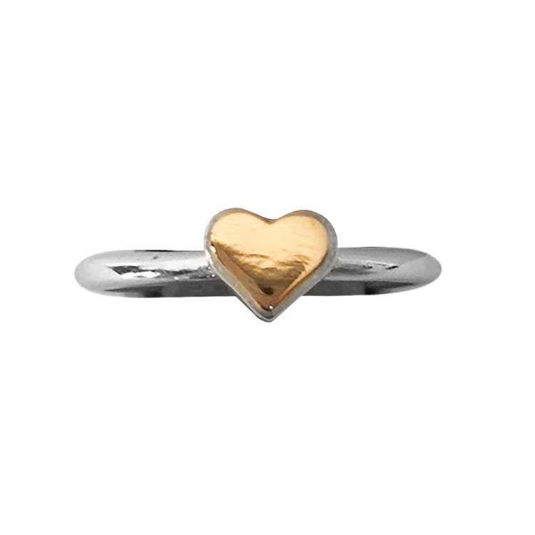 Sweetheart Ring with 14K Gold Heart