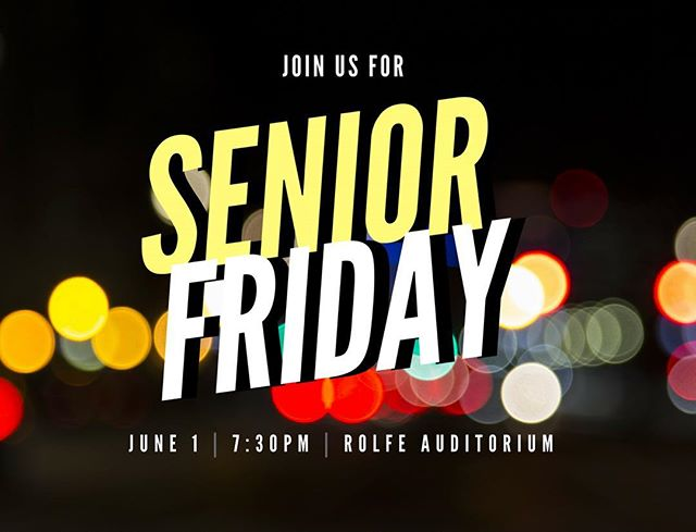 The Seniors are graduating soon! Join us as we commemorate their journeys with God through these past 4 years in college. It'll be this Friday at Rolfe Auditorium at 7:30PM! #uclaa2f #seniorfriday