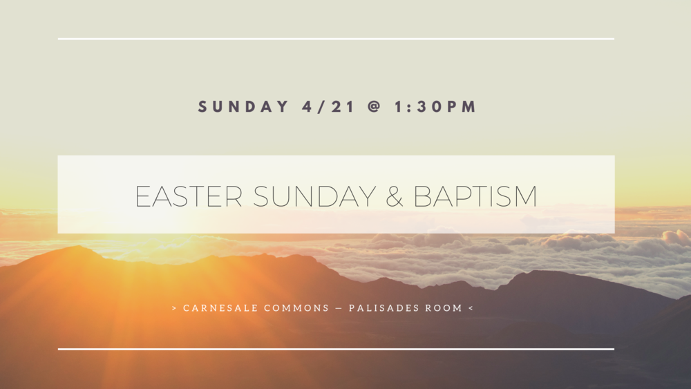 Come and celebrate  Easter  with us on  Sunday 4/21  @  1:30 PM  at  Carnesale Commons - Palisades Room.